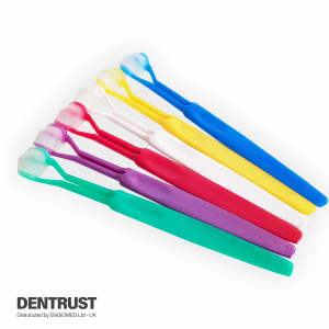 Three sided toothbrush
